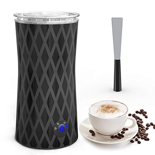 Elektrischer Milchaufschäumer, morpilot Automatischer Milchschäumer |Milk Frother|Milchwärmer, eine Taste von 4 Modi für Dichte & Flüssige Warme & Kalte Milchschaum|Milch Erwärmen, 400W 240ml