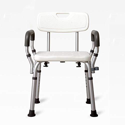 WG Toilettensitz Stuhl Ältere Menschen Bad Dusche mit Armlehnen Rückenlehne Toilettenstühle Duschstuhl Schwangere Frauen Spa Bank Bad Stuhl,E - Menschen ältere Für Stuhl Dusche