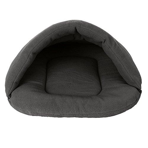 Haustierbett Haustier Nest Haustierbett gepolstert Hundehöhle Katzenbett Schlafsack für Kätzchen Welpen Höhlenbett Haustier Kätzchen Welpen Warm Korb Höhlen Häuser 280g