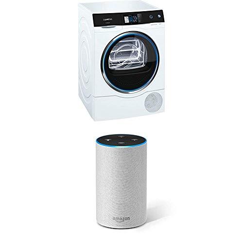 Siemens WT47X940EU avantgarde Wärmepumpentrockner/A+++/intelligentCleaning System/softDry Trommel für 1-9kg + Amazon Echo (2. Gen.), Intelligenter Lautsprecher mit Alexa, Sandstein Stoff
