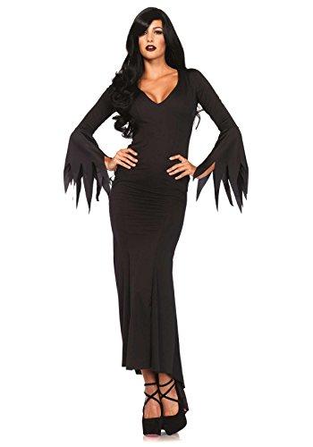 (Leg Avenue 3744 - Floor Length Gothic Dress , Größe S/M (Schwarz))