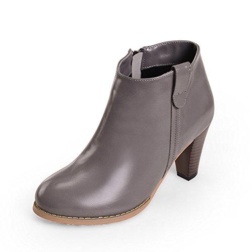 bottes de mode de printemps et d'automne/Grosses bottes avec des talons hauts/ côté Zip bottes C