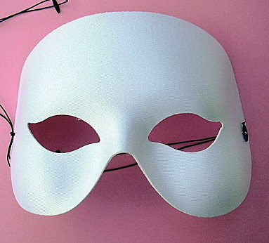 Weiße Halbmaske