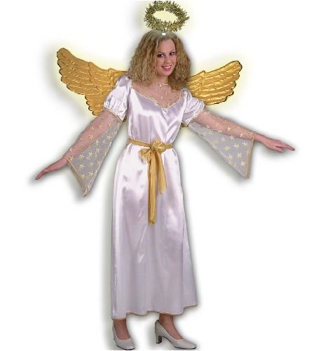 Engel Damen Kostüm Engelkostüm Damenkostüm Goldengel inkl.Gürtel Gr 44 (Flügel Engel Kostüm Männer Für)