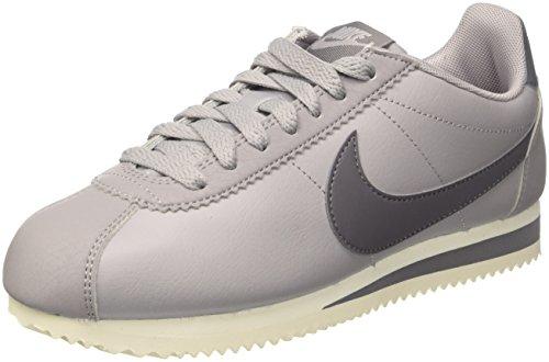 quite nice 9075a 78d2c Nike Damen Wmns Classic Cortez Leather Gymnastikschuhe, Grau (Atmosphere  GreyGunsmokeSail