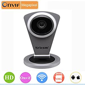 Sricam Caméra IP de sécurité Sans fil 720P WebCam IR-Cut H.264 Wifi Vision Nocturne P2P technologie ONVIF Détection de mouvement Enregistrement carte SD/TF
