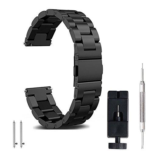 FashionAids Correa 22mm 20mm 18mm, Correa Reloj de Acero Inoxidable Banda de requesto de Matel para Relojes Hombre Mujer, 20mm(Correa para Samsung Gear S2 Classic, Correa Samsung Galaxy Watch 42MM)