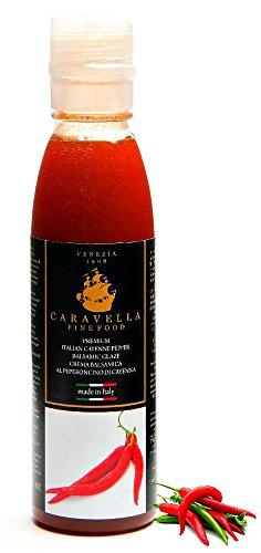 Caravella Premium Crème de Vinaigre Balsamique Italienne avec Piment de Cayenne 150 ml Gourmet Huiles et Vinaigres directement de Venise