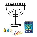 Set HANUKKAH Menorah verlichting kaarsen Joodse Traditie Dreidels Chanukah Holiday