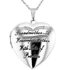 Idea Regalo - Collana con medaglione a forma di cuore, con scritta in inglese