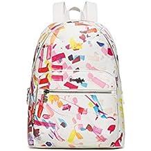 Desigual - Bolso mochila de Sintético para mujer Multicolor multicolor ca. 25 x 11 x