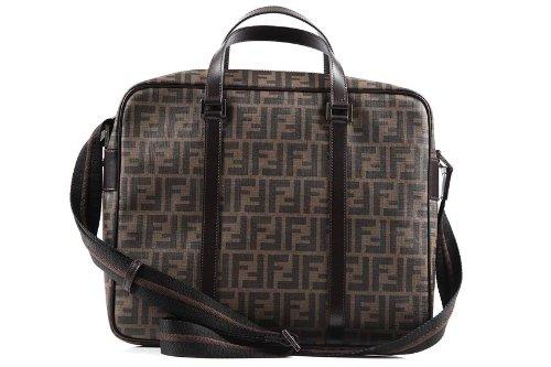 l'ultimo 8f622 d65cc FENDI borsa da lavoro portadocumenti notebook uomo marrone