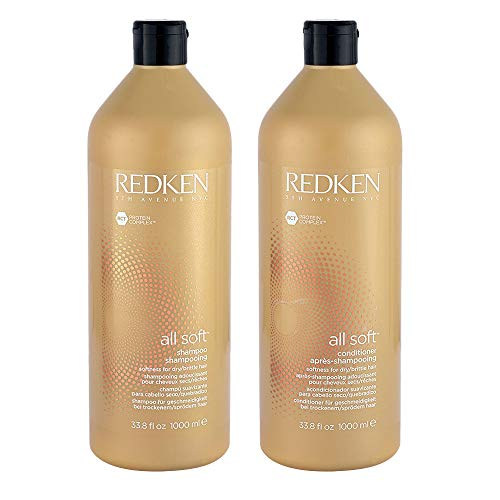 Redken All Soft Shampoo And Conditioner 33.8 Oz Duo -