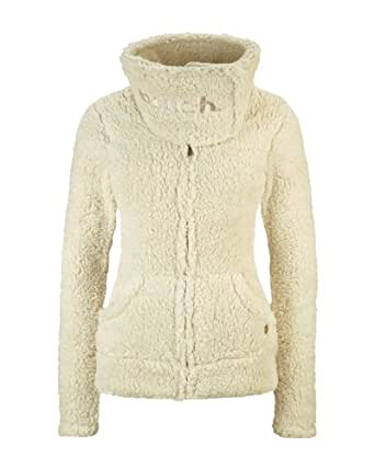 Bench Damen Sweatshirt Plüschjacke Inosent beige (seedpearl (CR042)) Medium