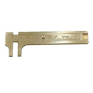 High Quality 80mm Copper Alloy Metal Vernier Caliper Gauge Micrometer Measuring Ruler Tool (A)