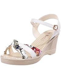 Mujer Pedrería Sandalias Gel Verano Playa Chanclas Toe Post Zapatos Talla - Blanco, Mujeres, 42 Eu