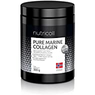 Norwegian Pure Marine Collagen Powder   Hydrolysate Peptides   Supplement for Skin, Hair, Nails, Tendons, Muscles, Ligaments   60 portions x 5000 mg I 100 % Natural   From Sustainable Wild-Caught Fish from North Atlantic Ocean   High bioavailability   Unflavoured   No Additives   93 % Protein   All 9 Amino Acids   Highly Absorbable   Great After-Exercise and Restitution Drink   Analysed and Always Lab Tested   300 g