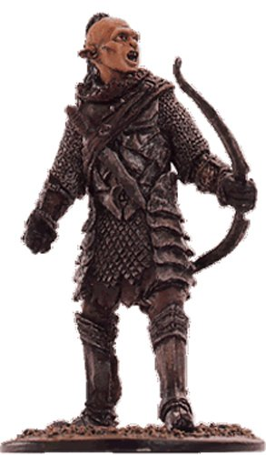 Lord of the Rings Señor de los Anillos Figurine Collection Nº 49 Orc Archer 1