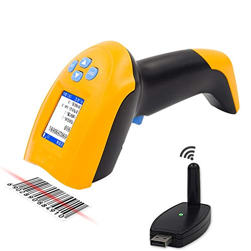 Wireless-1D-Barcode-Scanner USB Tragbarer Strichcodeleser Laser Cordless Data Collector tragbares Terminal Inventar Geräte (Color : Wireless red light)