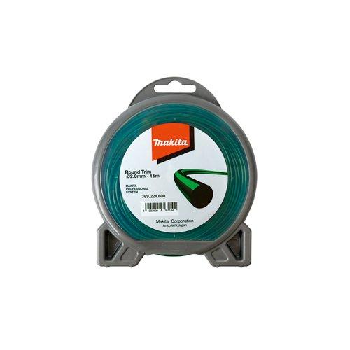 Makita 369224600 Mähfaden rund, 1 Stück, 2,0 mm x 15 m, green