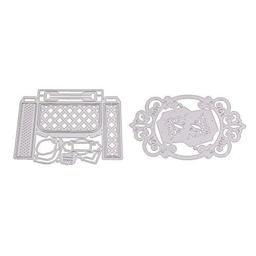 Xurgm - Set di 2 fustelle per scrapbooking, in metallo, per decorazioni natalizie