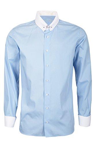 Schaeffer Hemd Modern Cut himmelblau Piccadilly / Pin Collar weiß, Größe: XL Collar Pin Shirt