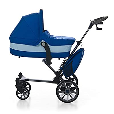 COCHECITO bebe 3 en 1 color AZUL. Ligero, practico, commpacto y fácil de plegar. Incluye 3 piezas: Capazo + Silla + Bolso. Carrito bebé completo, ligero, practico, funcional y seguro. MOBIBE. KOKETES