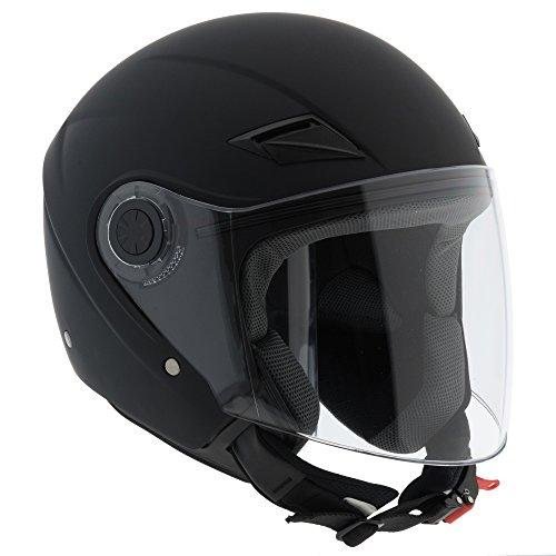Casco Jet para Moto Scooter Custom homologado ECE R22-05con visera para el...