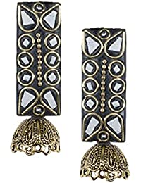 Anetra Chand Bali Earrings for Women (Black)(ads_010)
