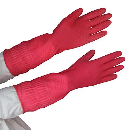 Unbekannt Gummihandschuhe Wasserdichte Säure- Und Alkalibeständige Handschuhe...