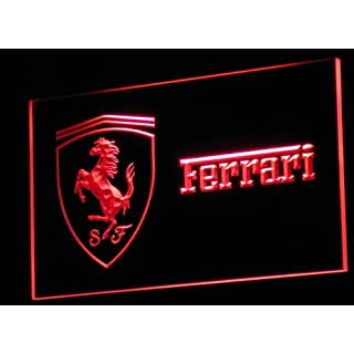 Ferrari LED Zeichen Werbung Neonschild Rot