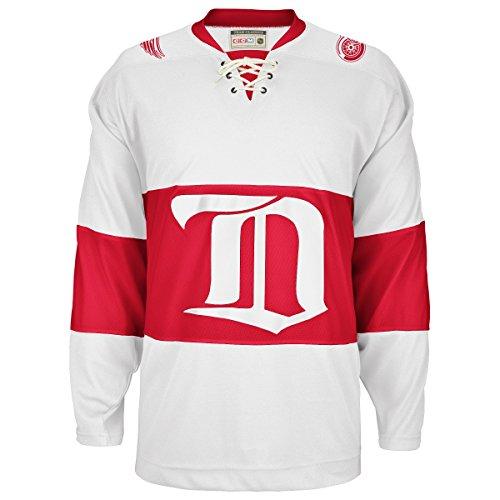 Detroit Red Wings CCM Reebok NHL Vintage Premier White Jersey Trikot (Vintage Red Wing)