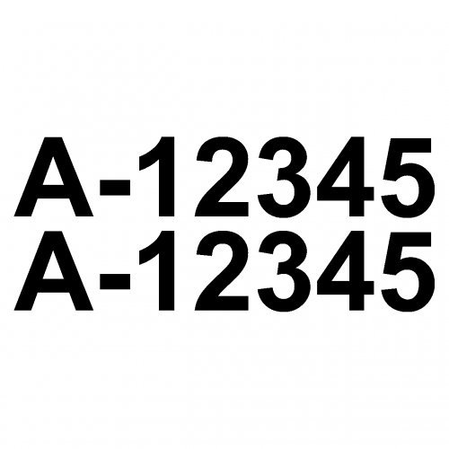 Bootskennzeichen Aufkleber Bootsnummer 2x10cmhoch schwarz