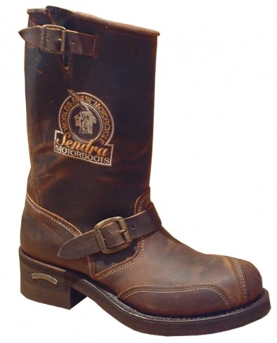 Sendra Herren Damen Stiefel Mad Dog Tang Steel Braun Größe 46 (Rindsleder Western-boot Braun)