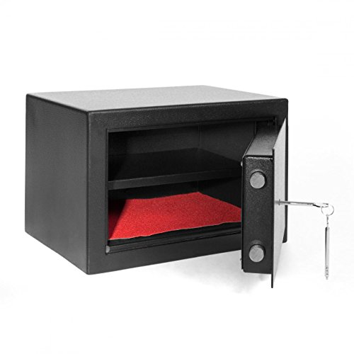 Möbeltresor Geldschrank Safe Dokumententresor Außenmaß: 25x37,4x27,6 cm Doppelbartschloss Sicherheitsstufe B