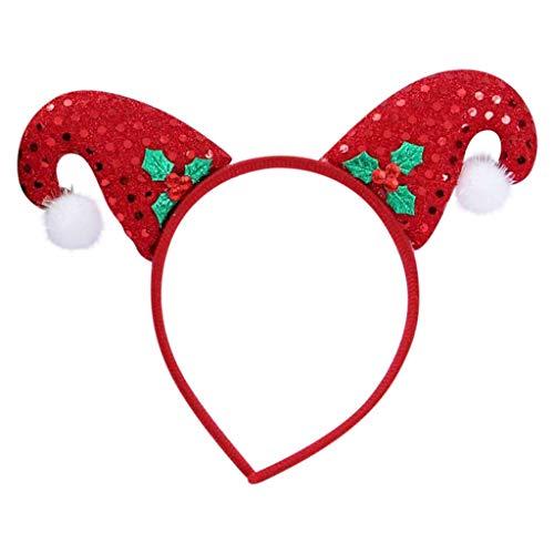 Dasongff Weihnachten Haarreif Rentier Geweih Elch Ohren Haarschmuck Haarband Stirnband Kopfschmuck Kopfbedeckung Kinder Erwachsene Party Hirsch Kostüm Zubehör (Für Erwachsene Rentier Kostüm Hoodie)