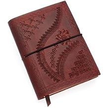 Paper High Carnet de notes en cuir gaufré Marron chocolat 105 x 145mm