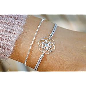Armband Lebensblume 925 Sterling Silber Geschenk