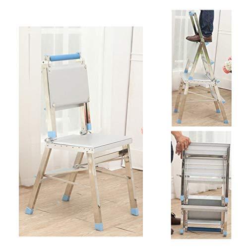 Chair 4-stufiger Hocker Edelstahlleiter Klappstuhl Für Die Küche Zu Hause, Kletterleiter Mit Doppeltem Verwendungszweck, Faltbar Für Den Innenbereich, Tragbar Für Den Außenbereich, DIY KADJ