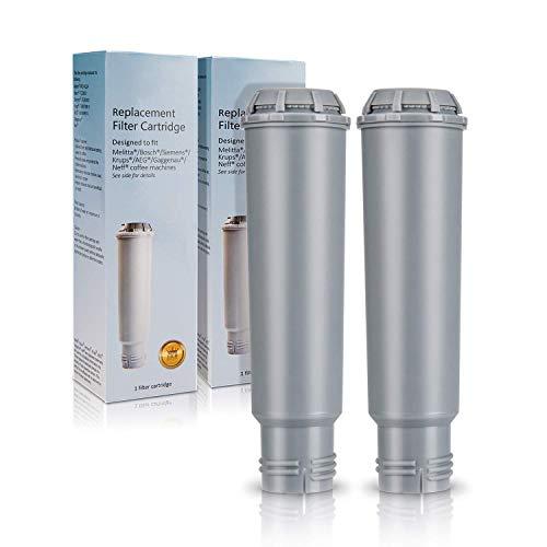 Cartouche Filtrante pour Krups Claris F088 machines à café, Homegoo Filtres à eau compatible avec Melitta, Nivona NIRF-700, Bosch, AEG, machines à café Siemens (2 paquets)