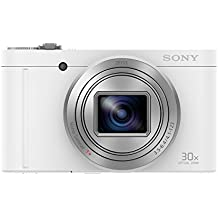 Sony DSC-WX500 Kompaktkamera (7,5 cm (3 Zoll) Display, 30x opt. Zoom, 60x Klarbild-Zoom, 5-Achsen Bildstabilisator, Full HD-Video) weiß