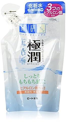 Rohto Hadalabo Gokujun Hyaluronic Lotion Smooth Refill 170ml / 5.7 floz. (Japan Import)
