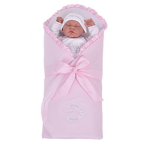 Sevira Kids - Schlafsack d' emmaillotage - nest engel geburt verstärkt per MATRATZE abnehmbar - Unterschiedliche farbe - Symbol Rosa, Ab Geburt - ca. 3/4 Monate, 80 x 80cm (Pod Bunting)
