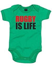 Print Wear Clothing Rugby Is Life, Printed Baby Grow