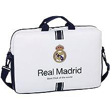 """Safta SF-611654-461 - Funda ordenador 15,6"""", 1ª equipacion temporada 2016/2017, diseño Real Madrid"""