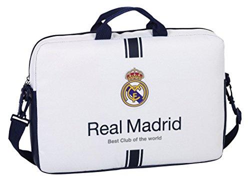 Safta Real Madrid Funda Ordenador, 20 Litros, Color Blanco