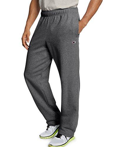 Champion Men`s Powerblend Fleece Open Bottom Pants - Fleece Open Bottom Pant