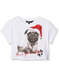 New Look Xmas Pug Paws For Selfie, T-Shirt Fille