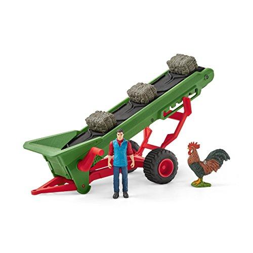 Preisvergleich Produktbild Schleich 42377 - Heuförderband mit Bauer - Spielzeug