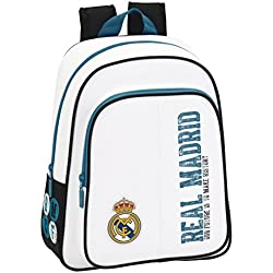 Safta 611754006 - Mochila infantil Real Madrid, 34 cm, Multicolor